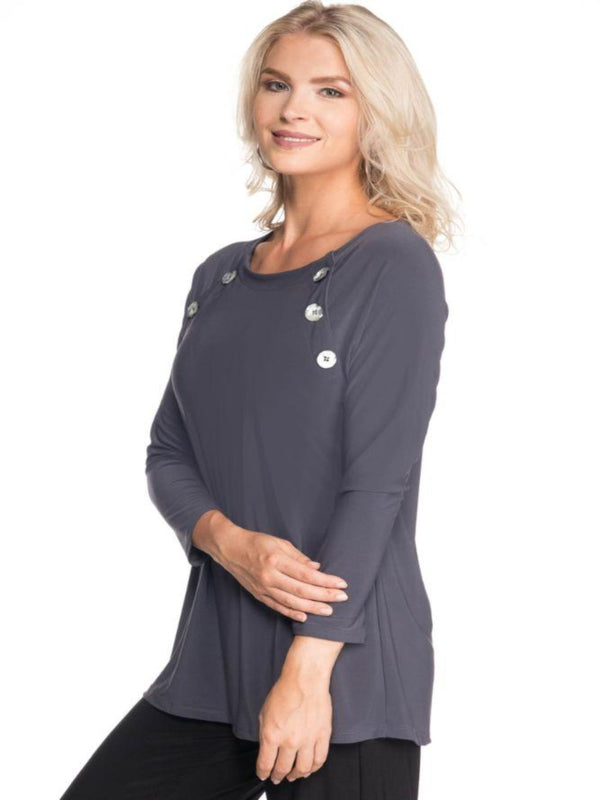 3/4 Sleeve Scoopneck Tops - The Post Office by Shannon Passero. Fashion Boutique in Thorold, Ontario