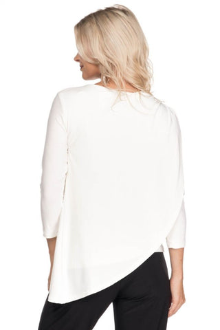 Asymmetrical Cowlneck Top