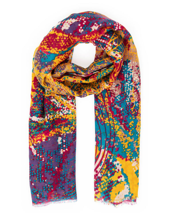 Abstract Leaves Print Scarf Accessories - The Post Office by Shannon Passero. Fashion Boutique in Thorold, Ontario