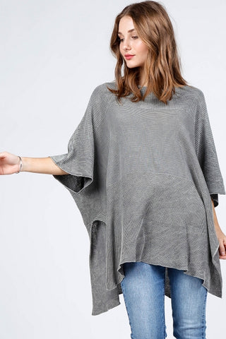 Mineral Wash Scoop Sweater