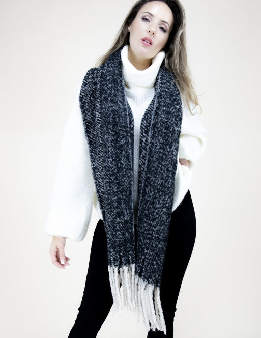 Solid Sprinkle Fringe Scarf Accessories - The Post Office by Shannon Passero. Fashion Boutique in Thorold, Ontario
