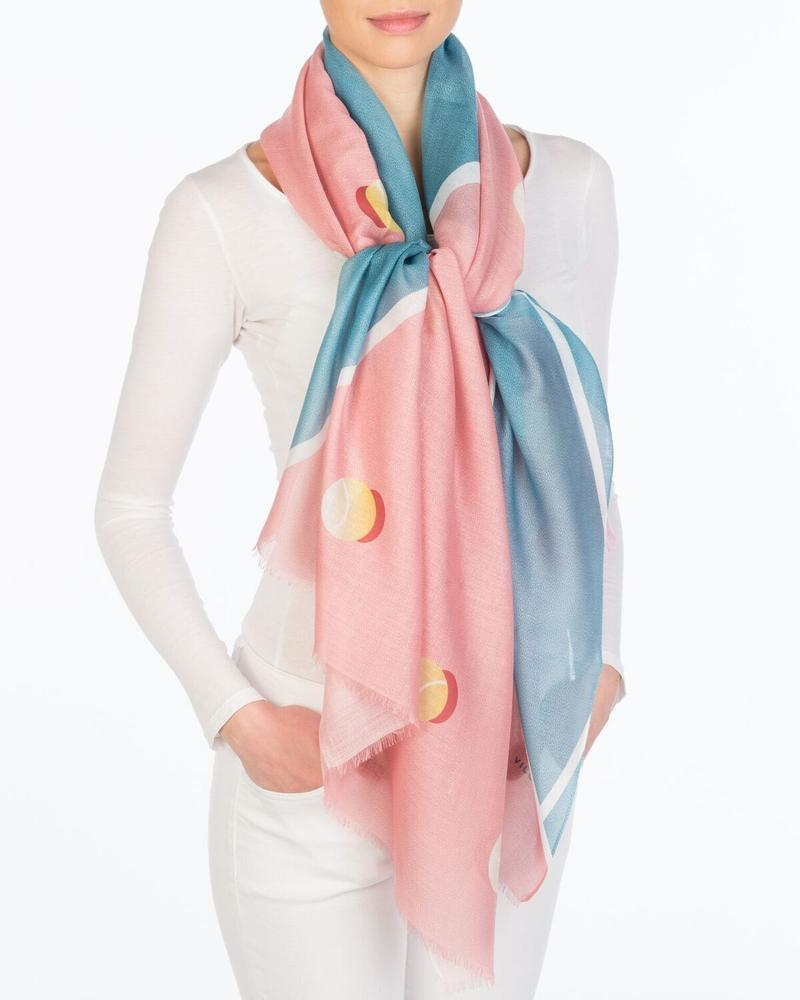 Tennis Court Scarf Accessories - The Post Office by Shannon Passero. Fashion Boutique in Thorold, Ontario