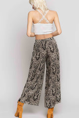Printed Wide Leg Pant Bottoms - The Post Office by Shannon Passero. Fashion Boutique in Thorold, Ontario