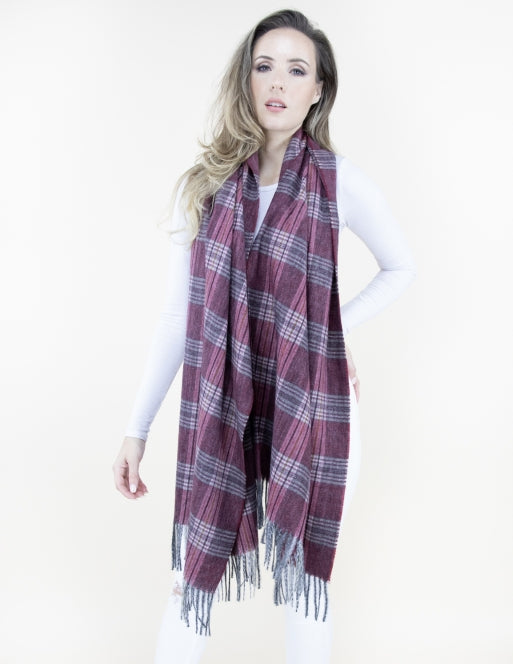 Winter Flannel Scarf Accessories - The Post Office by Shannon Passero. Fashion Boutique in Thorold, Ontario