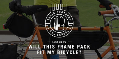 An article by  Banjo Brothers to help you pick the right frame pack or frame bag to fit your bicycle.