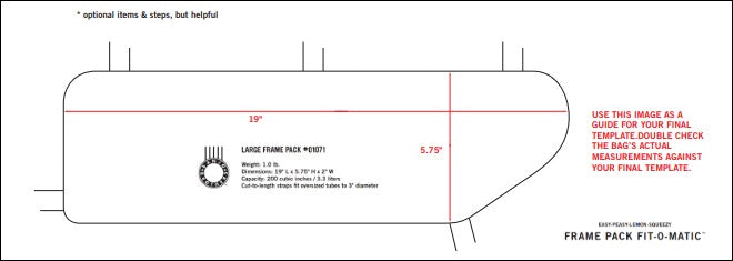 Download this template to see if the Banjo Brothers Large Frame Pack will fit your bike