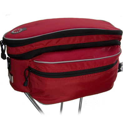 Rack Top Bag, Expanding, Red