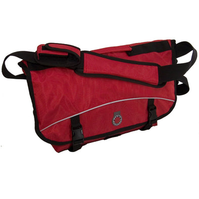 Banjo Brothers Medium Messenger Bag Red Front View