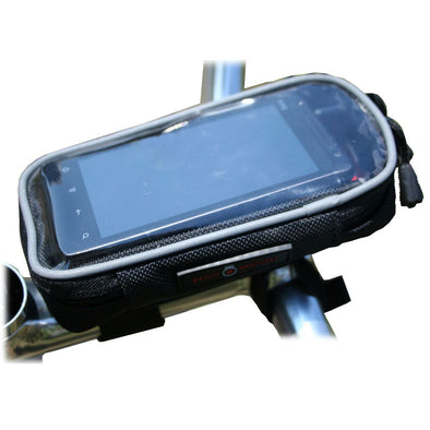 Banjo Brothers Cycling Bar Top Phone Pouch Installed