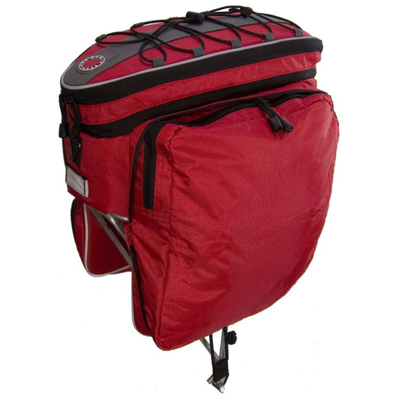 Banjo Brothers Rack Top  Bag with drop-down panniers