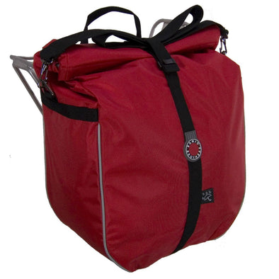 Banjo Brothers Rolltop Waterproof Pannier Red