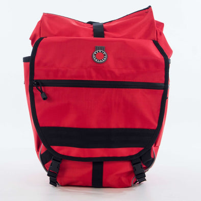 Banjo Brothers Waterproof Backpack Pannier red, pannier view