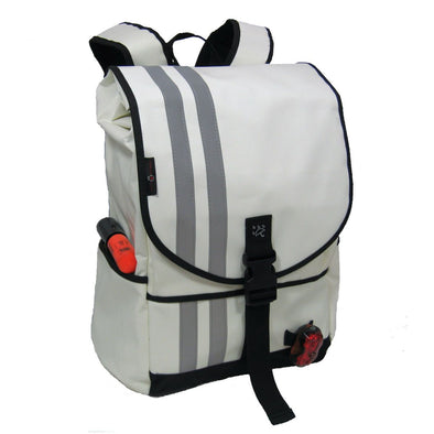 Banjo Brothers Waterproof Commuter Backpack , White, Medium, front view