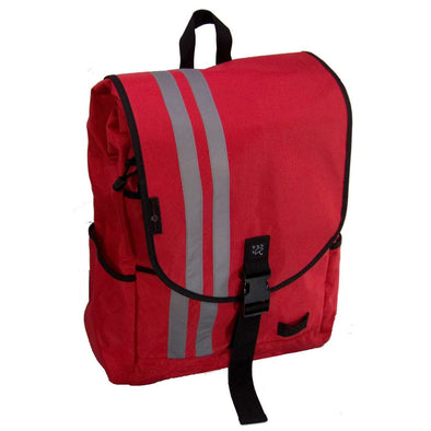 Banjo Brothers Large Waterproof Commuter Backpack in Red. 2000 cubic inches. 100% waterproof