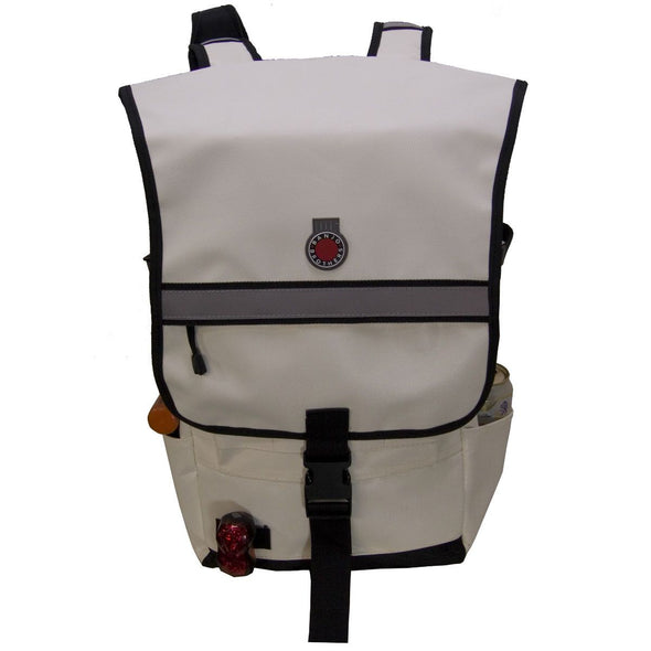 Banjo Brothers Metro Backpack White Front View