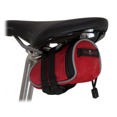 Banjo Brothers Deluxe Seat Bag Red Mini Mounted to Bike Seat