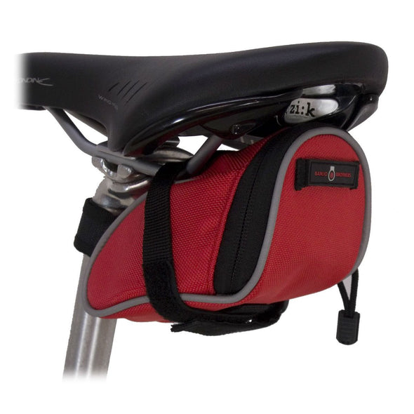 Banjo Brothers Deluxe Seat Bag Small Red Attached to bike seat