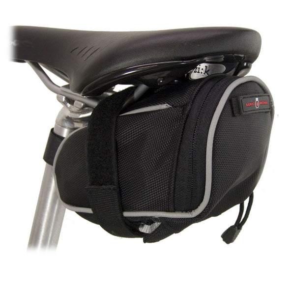 Banjo Brothers Deluxe Medium Seat Bag Mounted to Bike Seat