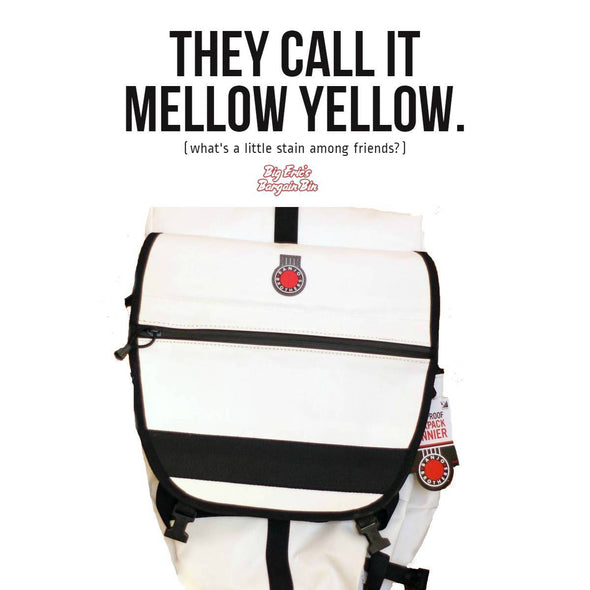 The Best Cycling Pannier Backpack  is on sale. Banjo Brothers White Pannier Backpack Factory 2nd
