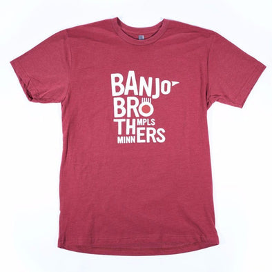 Banjo Brothers MN Nice T-Shirt in Cardinal Red, Men's