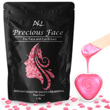 Precious Face Waxing Beans for Eyebrow Shaping, Upper Lip, and Thin Facial Hair - Large 1 lb Bag Refill Beads plus 20 Applicators