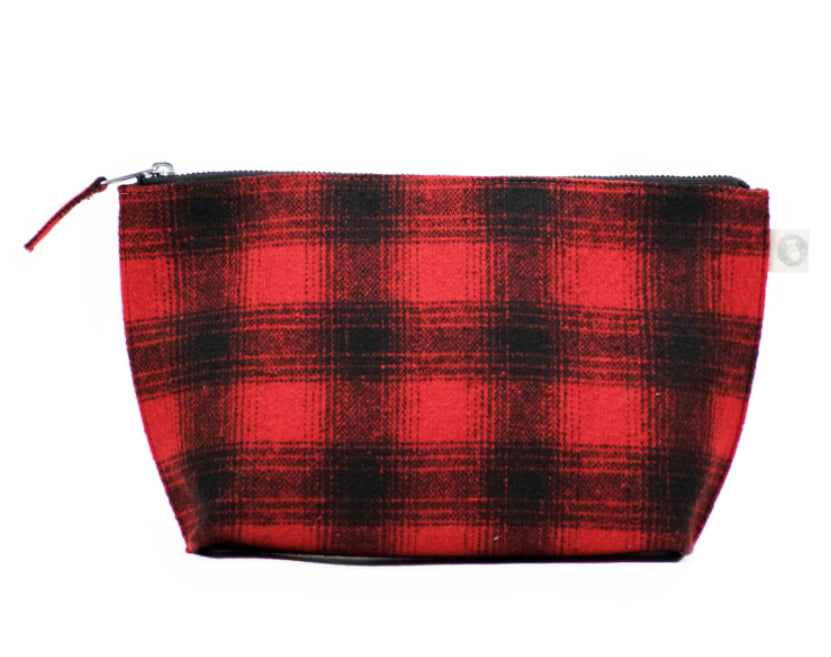 Clutch Bag: Red Plaid Flannel
