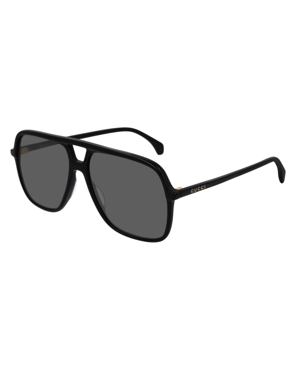 Gucci Ultra-light Plastic Aviator-Blk
