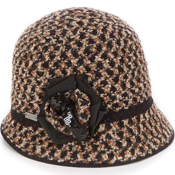 Betmar Willow Cloche Hat: Brown
