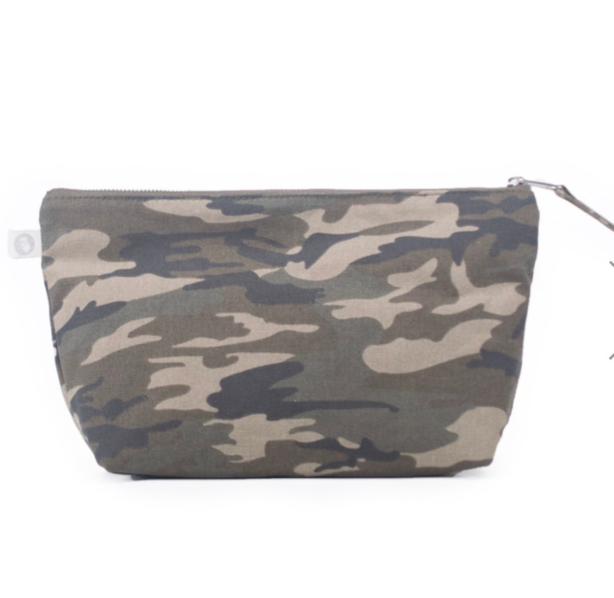 Canvas Clutch Bag: Green Camouflage