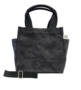 Mini Lux North South Bag: Black Camouflage