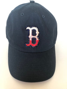 Baseball Cap including Swarovsky Crystals-Navy