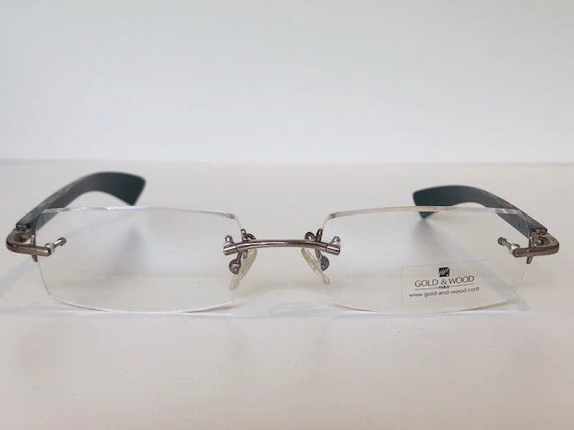 Gold & Wood Rimless-Wood