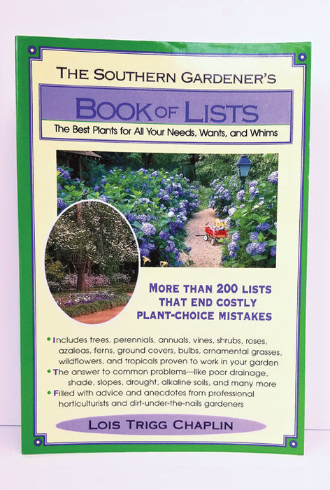 Southern Gardener's Book of Lists