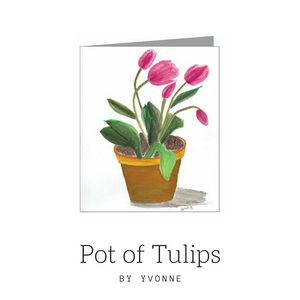 WLP Pot of Tulips by Yvonne