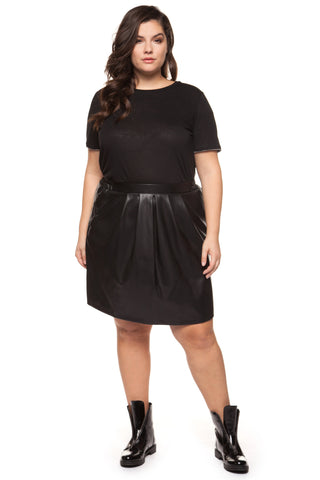 Shania Faux Leather Skirt