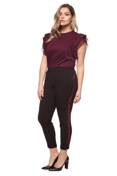 Sal Side Stripe Plus Size Pants