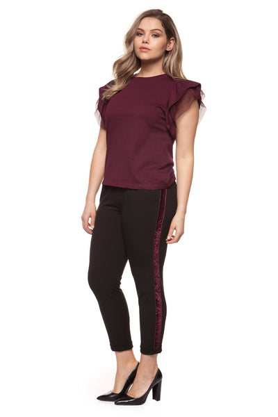 Vino Flutter Plus Size Top