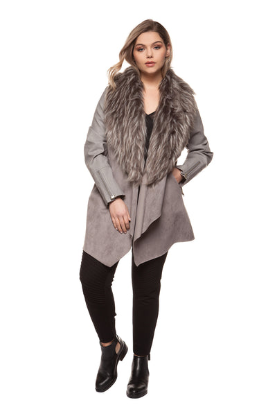 Suz Faux Fur Plus Size Jacket