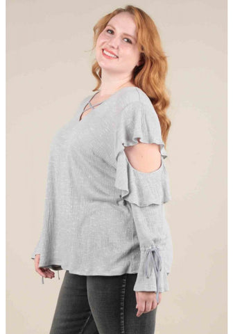 Jackie Plus Size Cold Shoulder