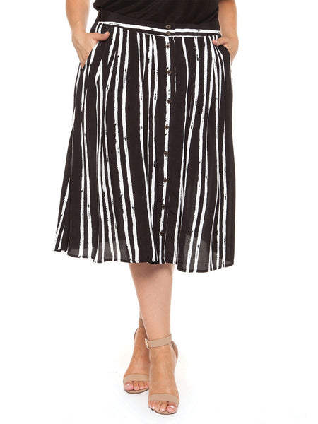 Alessandra Striped Skirt