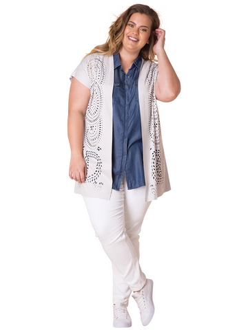Abby Cutout Cardigan