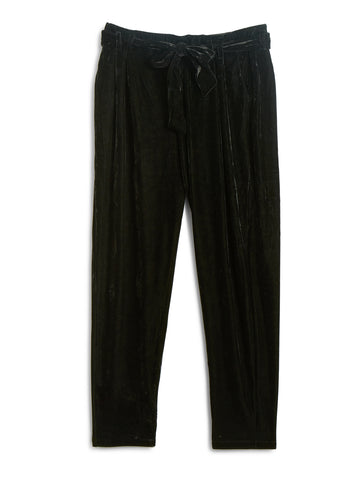 Sherry Black Velvet Plus Size Pant
