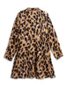 Leopard Button-Up Plus Size Shirt Dress