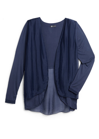 Navy Sheer Cardigan