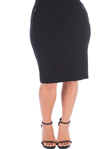 Ollie Ponte Pencil Skirt