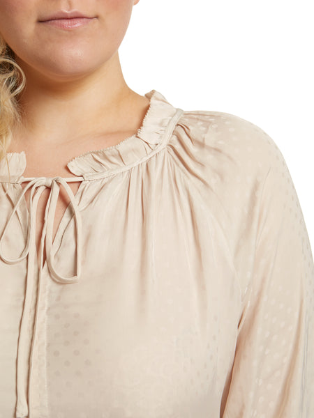 June Polka Dot Plus Size Blouse