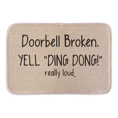 Welcome Doormats Ding Dong