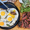 Kona Crusted Filet Mignon & Sage Fried Eggs