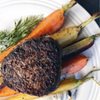 Filet Mignon with Roasted Rainbow Carrots