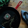 Pan Seared Filet Mignon with Garlic and Herb Butter